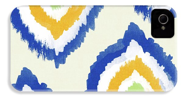 Summer Ikat- Art By Linda Woods IPhone 4 / 4s Case by Linda Woods