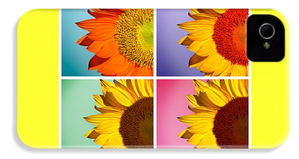 Sunflowers Collage IPhone 4 / 4s Case by Mark Ashkenazi