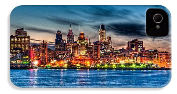 Sunset Over Philadelphia IPhone 4 / 4s Case by Louis Dallara