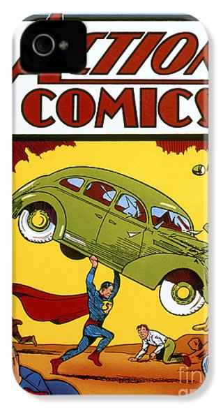 Superman Comic Book, 1938 IPhone 4 / 4s Case by Granger