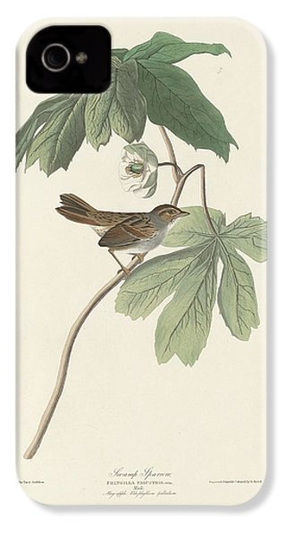 Swamp Sparrow IPhone 4 / 4s Case by John James Audubon