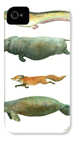 Swimming Animals IPhone 4 / 4s Case by Juan Bosco