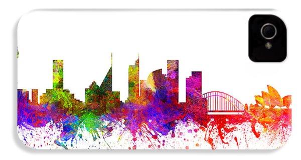 Sydney Australia Cityscape 02 IPhone 4 / 4s Case by Aged Pixel