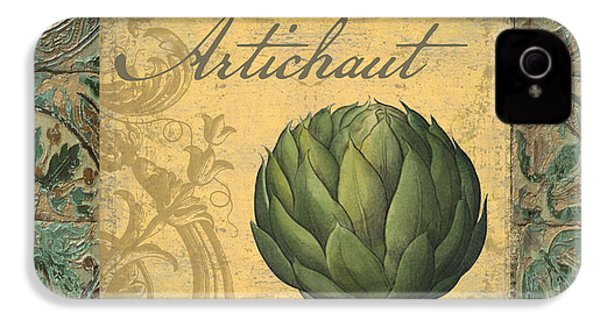 Tavolo, Italian Table, Artichoke IPhone 4 / 4s Case by Mindy Sommers