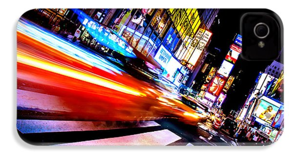 Taxis In Times Square IPhone 4 / 4s Case by Az Jackson