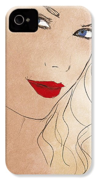Taylor Red Lips IPhone 4 / 4s Case by Pablo Franchi