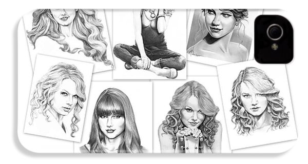 Taylor Swift Collage IPhone 4 / 4s Case by Murphy Elliott