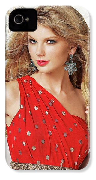 Taylor Swift IPhone 4 / 4s Case by Twinkle Mehta