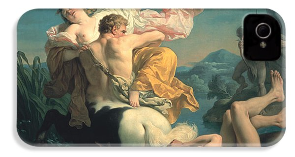 The Abduction Of Deianeira By The Centaur Nessus IPhone 4 / 4s Case by Louis Jean Francois Lagrenee