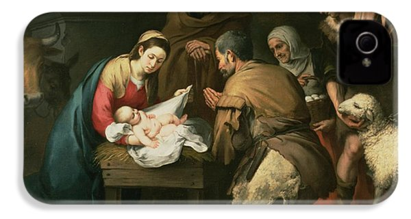 The Adoration Of The Shepherds IPhone 4 / 4s Case by Bartolome Esteban Murillo
