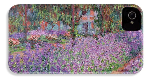 The Artists Garden At Giverny IPhone 4 / 4s Case by Claude Monet