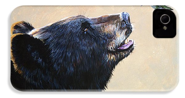 The Bear And The Hummingbird IPhone 4 / 4s Case by J W Baker