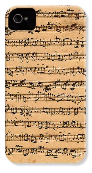 The Brandenburger Concertos IPhone 4 / 4s Case by Johann Sebastian Bach