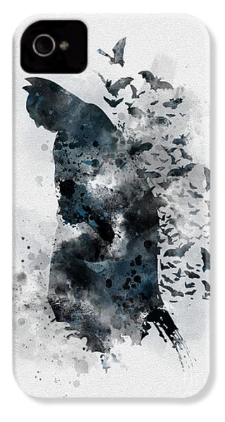 The Caped Crusader IPhone 4 / 4s Case by Rebecca Jenkins