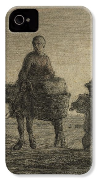 The Departure For Work IPhone 4 / 4s Case by Jean-Francois Millet