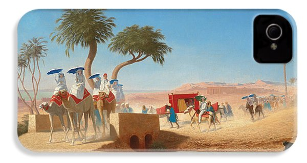 The Empress Eugenie Visiting The Pyramids IPhone 4 / 4s Case by Charles Theodore Frere