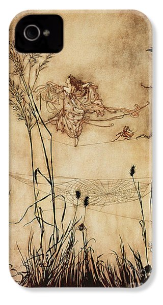 The Fairy's Tightrope From Peter Pan In Kensington Gardens IPhone 4 / 4s Case by Arthur Rackham