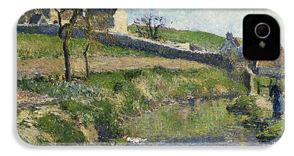 The Farm At Osny IPhone 4 / 4s Case by Camille Pissarro