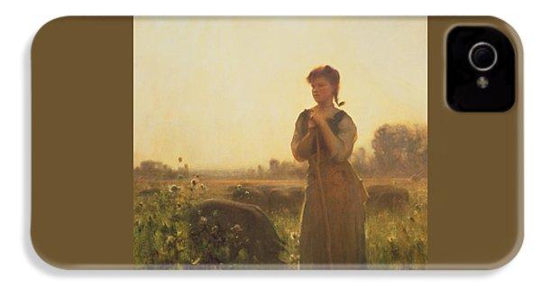 The Farm Girl IPhone 4 / 4s Case by Arthur Hacker