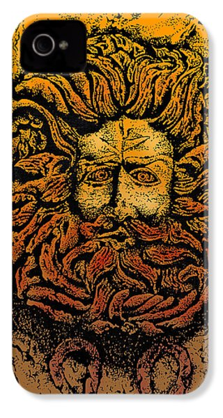 The Gorgon Man Celtic Snake Head IPhone 4 / 4s Case by Larry Butterworth