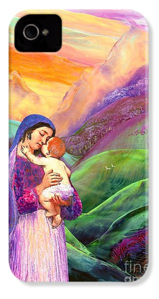Virgin Mary And Baby Jesus, The Greatest Gift IPhone 4 / 4s Case by Jane Small