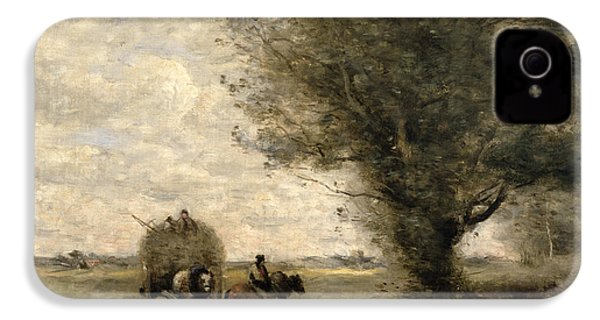 The Haycart IPhone 4 / 4s Case by Jean Baptiste Camille Corot
