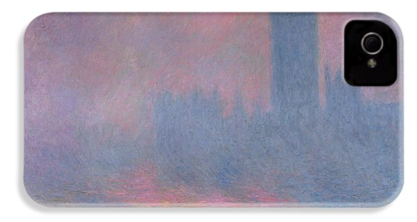 The Houses Of Parliament London IPhone 4 / 4s Case by Claude Monet