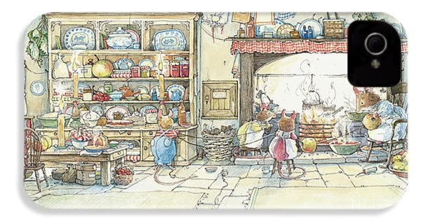The Kitchen At Crabapple Cottage IPhone 4 / 4s Case by Brambly Hedge