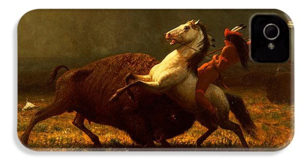 The Last Of The Buffalo IPhone 4 / 4s Case by Albert Bierstadt