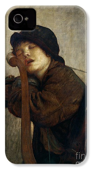 The Little Violinist Sleeping IPhone 4 / 4s Case by Antoine Auguste Ernest Hebert