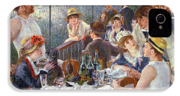 The Luncheon Of The Boating Party IPhone 4 / 4s Case by Pierre Auguste Renoir