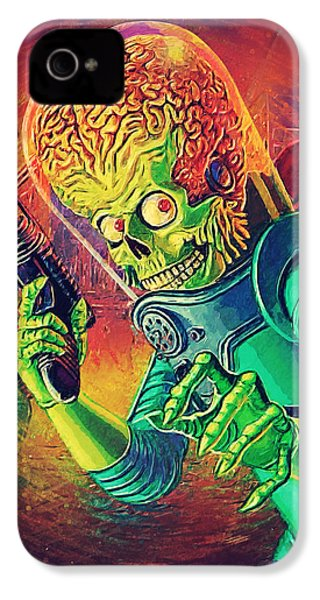 The Martian - Mars Attacks IPhone 4 / 4s Case by Taylan Apukovska