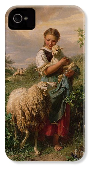 The Shepherdess IPhone 4 / 4s Case by Johann Baptist Hofner
