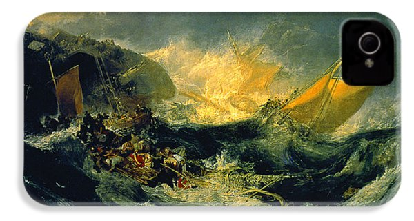The Shipwreck Of The Minotaur IPhone 4 / 4s Case by JMW Turner