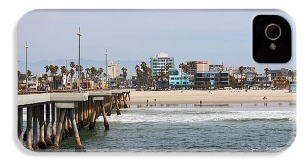 The South View Venice Beach Pier IPhone 4 / 4s Case by Ana V Ramirez
