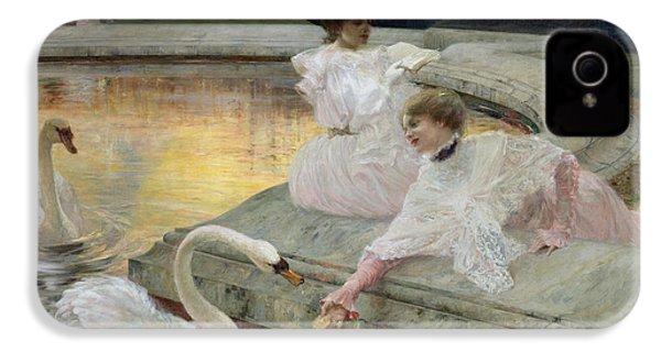 The Swans IPhone 4 / 4s Case by Joseph Marius Avy