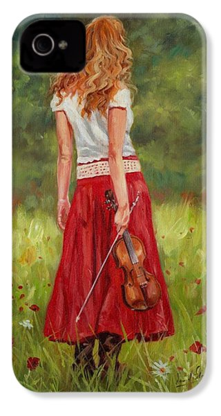 The Violinist IPhone 4 / 4s Case by David Stribbling