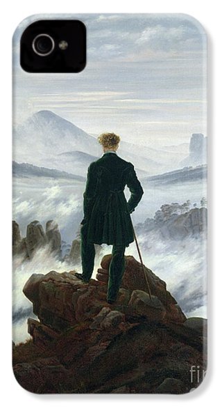 The Wanderer Above The Sea Of Fog IPhone 4 / 4s Case by Caspar David Friedrich
