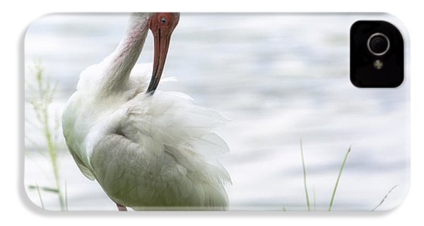 The White Ibis  IPhone 4 / 4s Case by Saija  Lehtonen