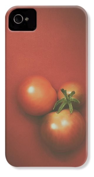 Three Cherry Tomatoes IPhone 4 / 4s Case by Scott Norris