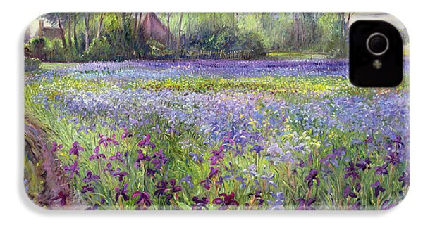 Trackway Past The Iris Field IPhone 4 / 4s Case by Timothy Easton