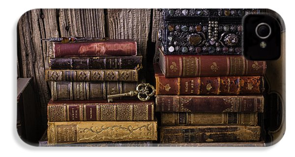 Treasure Box On Old Books IPhone 4 / 4s Case by Garry Gay