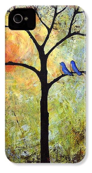 Tree Painting Art - Sunshine IPhone 4 / 4s Case by Blenda Studio