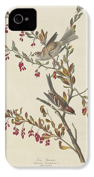 Tree Sparrow IPhone 4 / 4s Case by John James Audubon