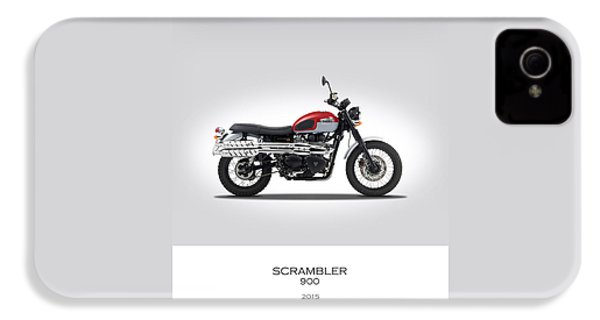 Triumph Scrambler 2015 IPhone 4 / 4s Case by Mark Rogan