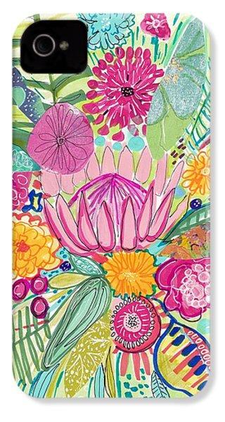 Tropical Foliage IPhone 4 / 4s Case by Rosalina Bojadschijew