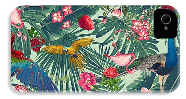 Tropical Fun Time  IPhone 4 / 4s Case by Mark Ashkenazi