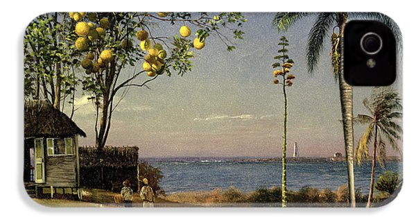 Tropical Scene IPhone 4 / 4s Case by Albert Bierstadt