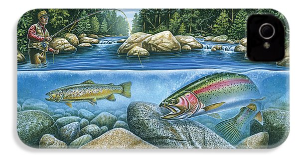 Trout View IPhone 4 / 4s Case by JQ Licensing