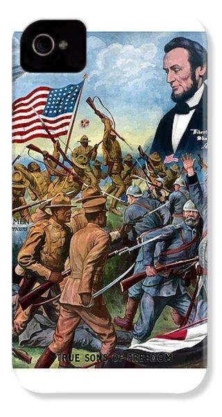 True Sons Of Freedom -- Ww1 Propaganda IPhone 4 / 4s Case by War Is Hell Store